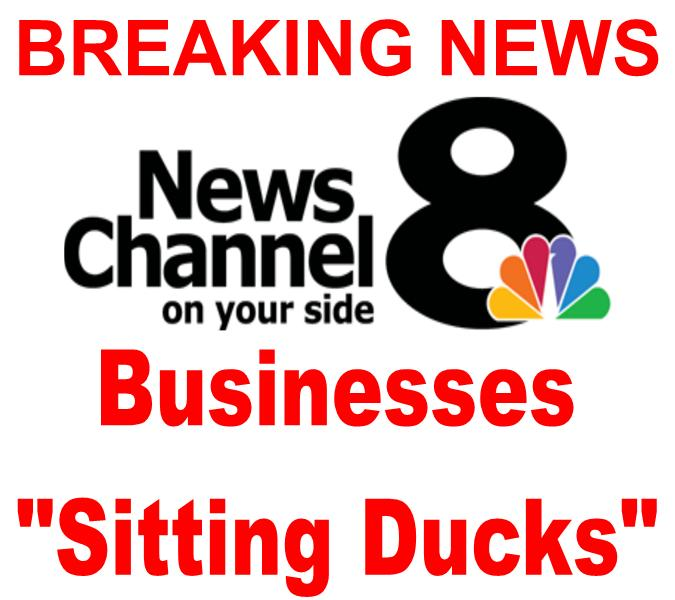 Breaking News Channel 8 Businesses Sitting Ducks for lawsuits they don't have their website compliance with ada news story