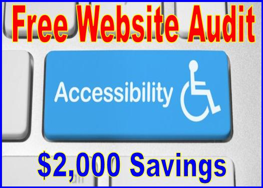 Computer handicap keyboard on free website audit of $2000 about accessibility testing of a website