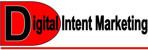 Digital Intent Marketing red black company logo that offers search-engine optimization & is an agency-digital marketing company