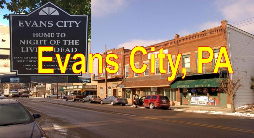 Evans City PA showing Main Stree Downtown and Stores Blue Sky Evans City  Market Area Served