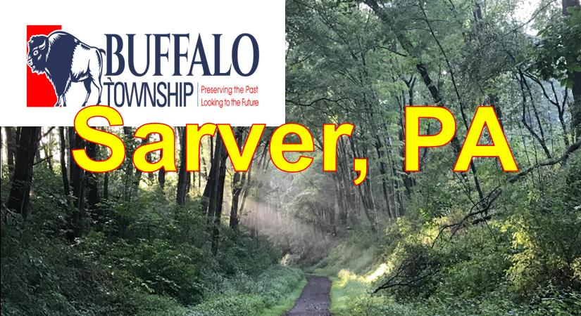 Sarver Buffalo Twp PA showing Country Road  and Trees Blue Sky Sarver  Market Area Served