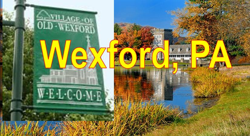 Wexford PA showing Nth Park Club  House and Blue Sky Wexford  Market Area Served