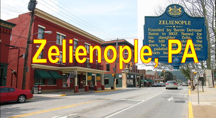 Zelienople PA showing Main Stree Downtown and Stores Blue Sky Zelienople  Market Area Served