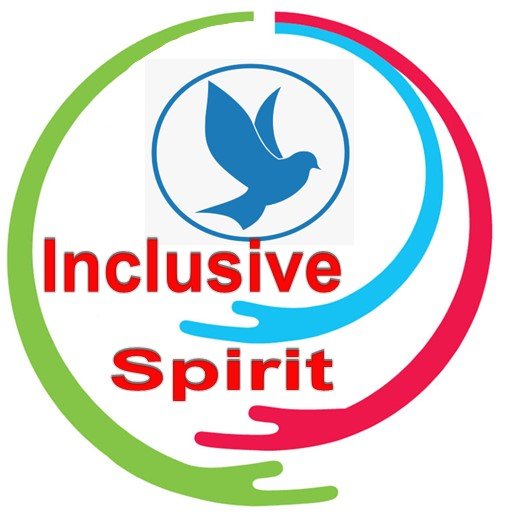 Inclusive-Spirit-Logo with Holy Spirit Blue Bird  rapped in arms